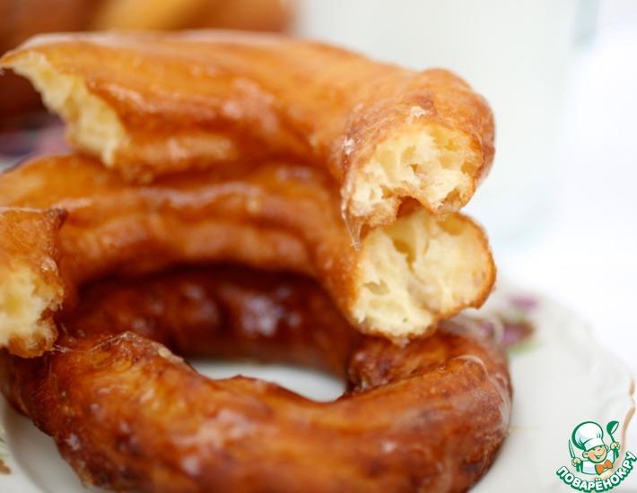 Рецепт: Французские заварные пончики с медовой глазировкой