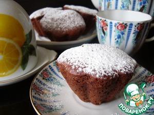 Рецепт Шоколадно-абрикосовые кексы с сюрпризом