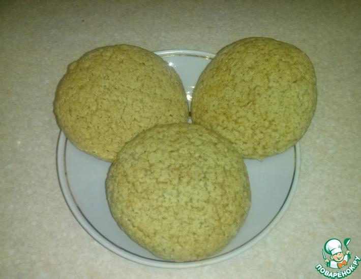 Рецепт: Постное овсяное печенье