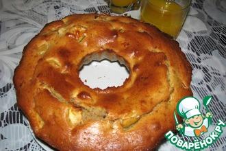 Рецепт: Бананово-яблочный кекс с орехами