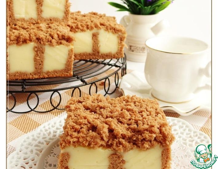 Рецепт: Бисквит с ванильным пудингом