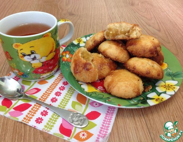 Рецепт: Печенье с ананасовым джемом