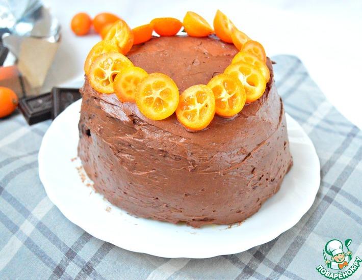 Рецепт: Торт Наполеон-апельсин и шоколад