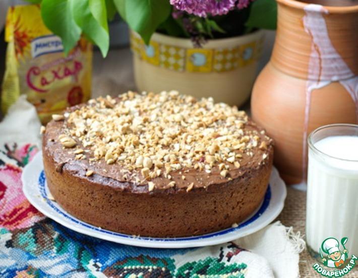 Рецепт: Шоколадный кекс с арахисом