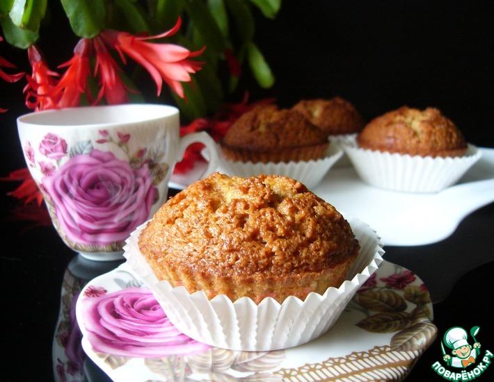 Рецепт: Миндально-карамельные кексы на белках