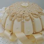 Торт Птичье молоко с карамельной глазурью