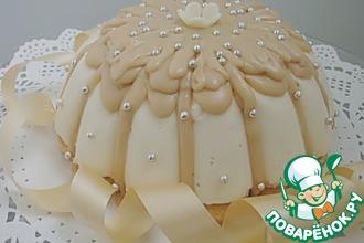 Рецепт: Торт Птичье молоко с карамельной глазурью
