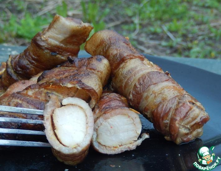 Рецепт: Острая шафрановая курица в фантике