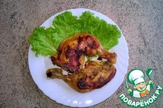 Рецепт: Запечённые куриные окорочка в мультиварке
