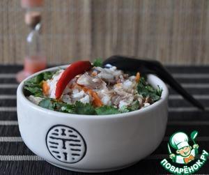 Rice porridge with chicken