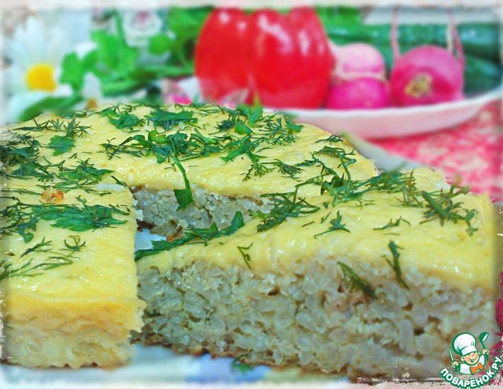 Рецепт: Простая рисовая запеканка с фаршем