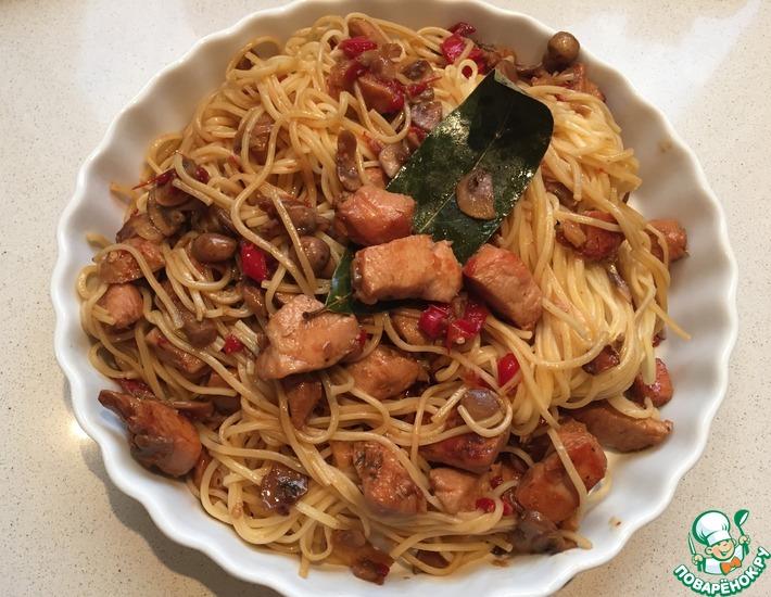 Рецепт: Пикантные китайско-итальянские спагетти