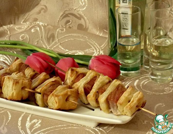 Рецепт: Закуска для посиделок Шашлычок