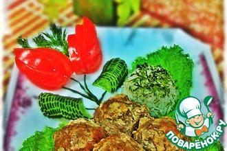 Рецепт: Мясные ёжики в сметанном соусе