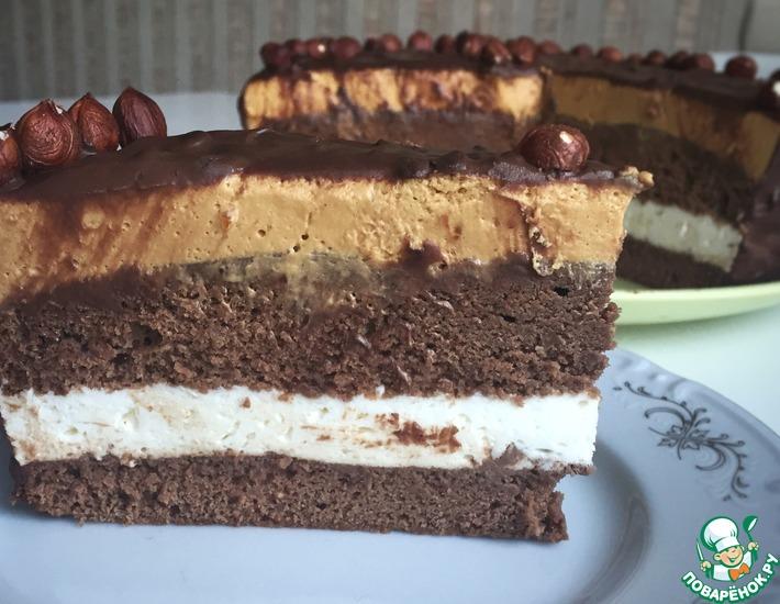 Рецепт: Торт Шоколадно-карамельная фантазия