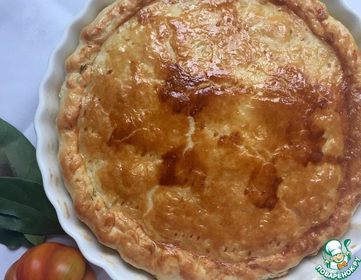 Рецепт: Капустный пирог с красным луком Шелковый