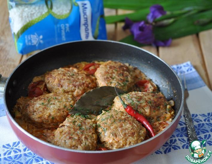Рецепт: Ленивые голубцы на сковороде