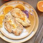 Куриная грудка в сливочно-апельсиновом соусе