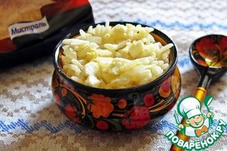 Рецепт: Простая рисовая каша с яйцом