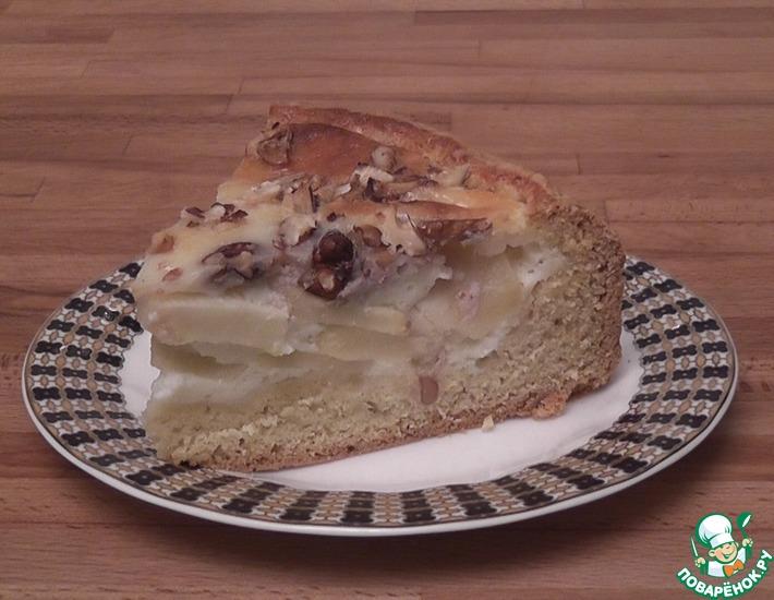 Рецепт: Яблочный пирог с орехами