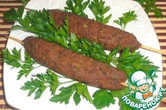 Рецепт: Люля-кебаб из куриной печени