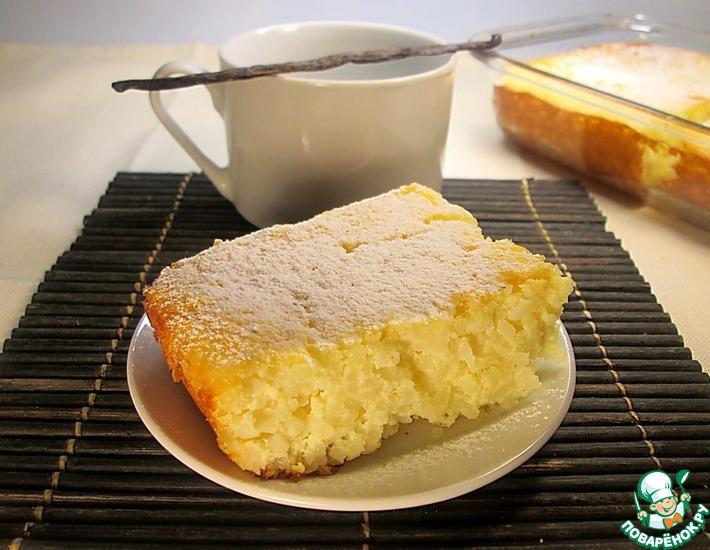 Рецепт: Ванильная рисовая запеканка