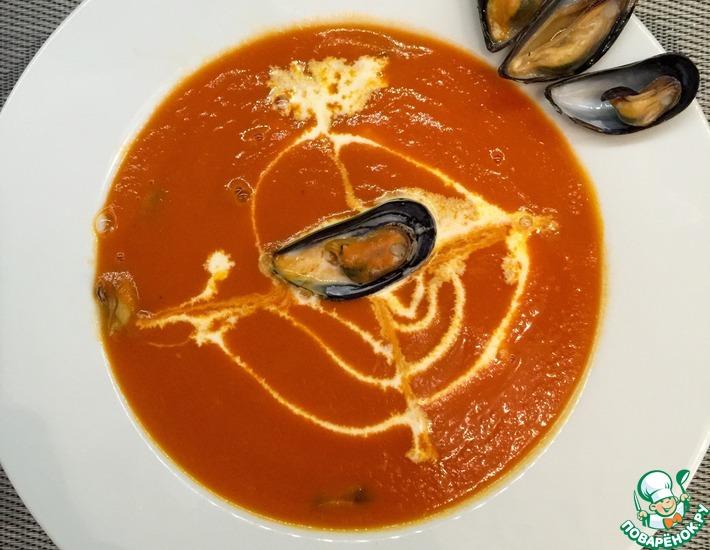 Рецепт: Быстрый томатный крем-суп