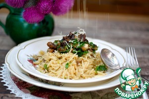 Mushroom risotto from Jamie Oliver