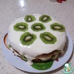 Торт медовый с киви