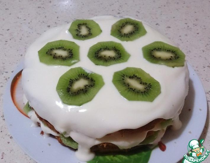 Рецепт: Торт медовый с киви