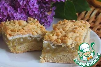 Рецепт: Чудесный ревеневый пирог
