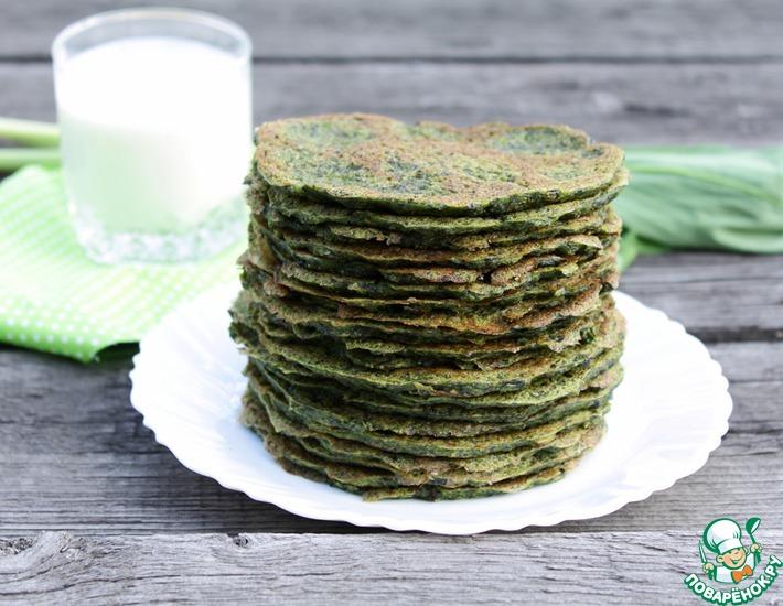 Рецепт: Блинчики Зеленый витаминчик