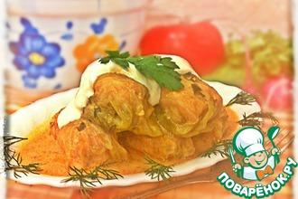 Рецепт: Голубцы в сметанно-томатном соусе