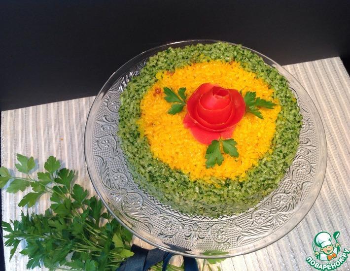 Рецепт: Запеканка рисовая Радужная