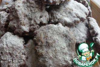Рецепт: Овсяное-шоколадное печенье
