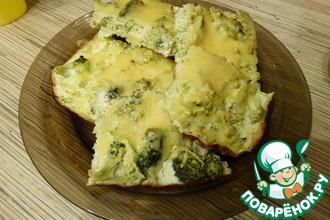 Рецепт: Запеканка из брокколи и кабачка