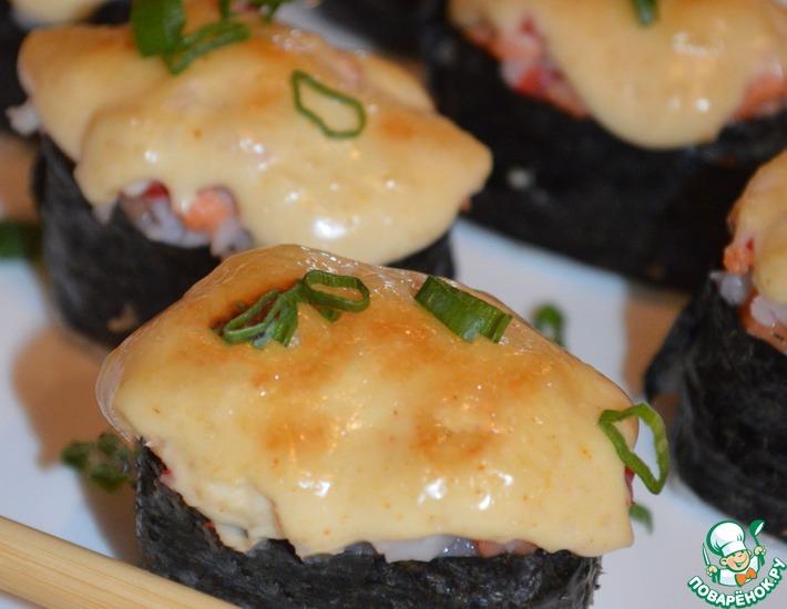 Рецепт: Роллы запеченные со спайси соусом