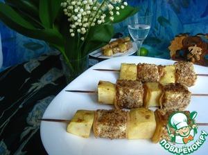 Рецепт Шашлык с сыром и яблоками