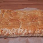 Пирог из слоёного теста с адыгейским сыром