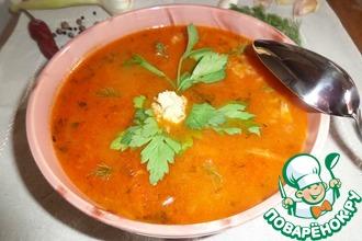 Рецепт: Суп по принципу Харчо