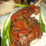 Индейка на подушке из болгарского перца