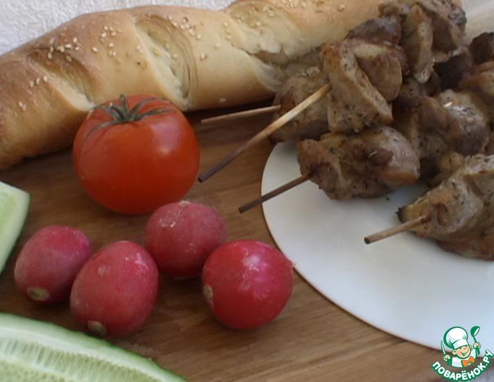 Рецепт: Шашлык из свинины по-баварски