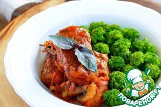 Рецепт: Гречневые котлеты в томатном соусе с грибами