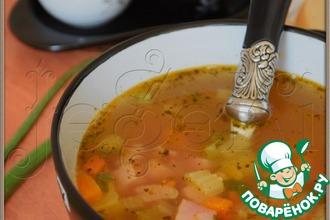 Рецепт: Гороховый суп с ветчиной
