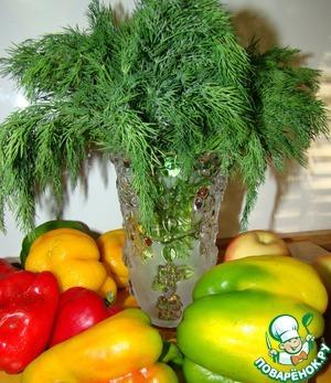 Зелень из микроволновки на всю зиму – кулинарный рецепт