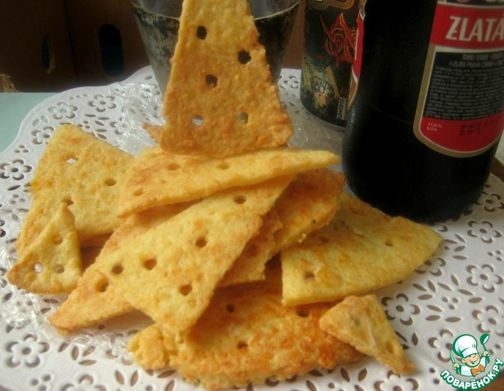 Рецепт: Печенье Кусочки сыра