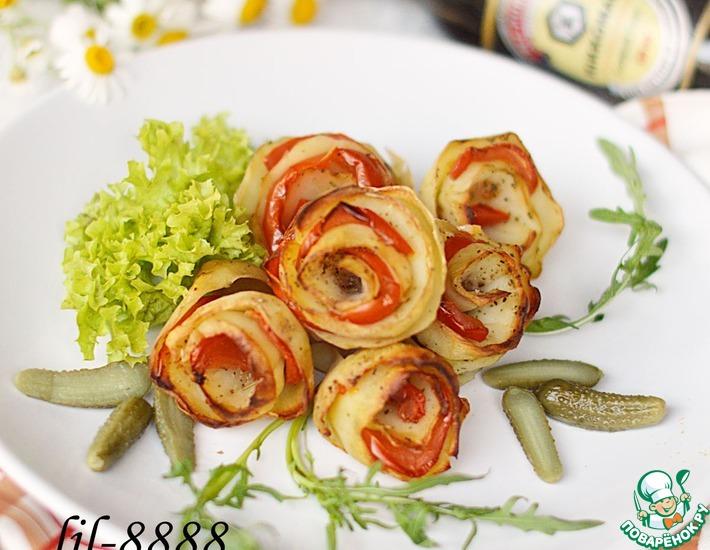 Рецепт: Картофельные розы