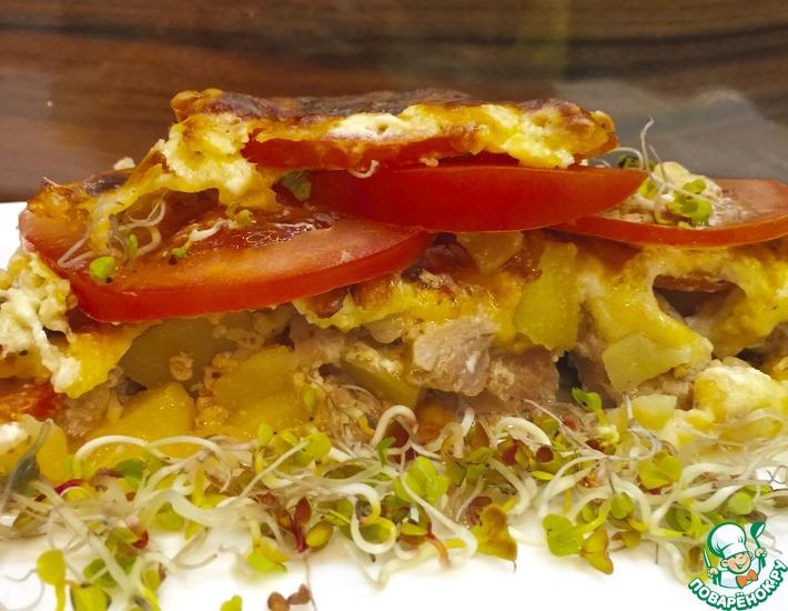 Рецепт: Картофель с мясом Ленивая Саша