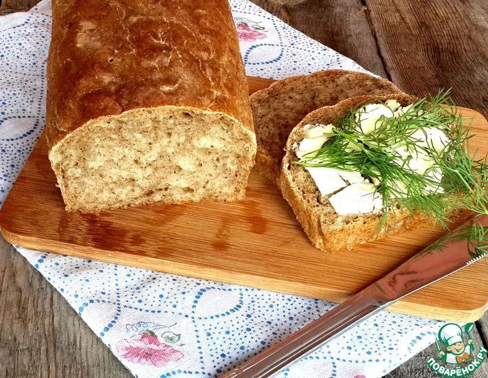 Рецепт: Хлеб на квасной гуще с геркулесом