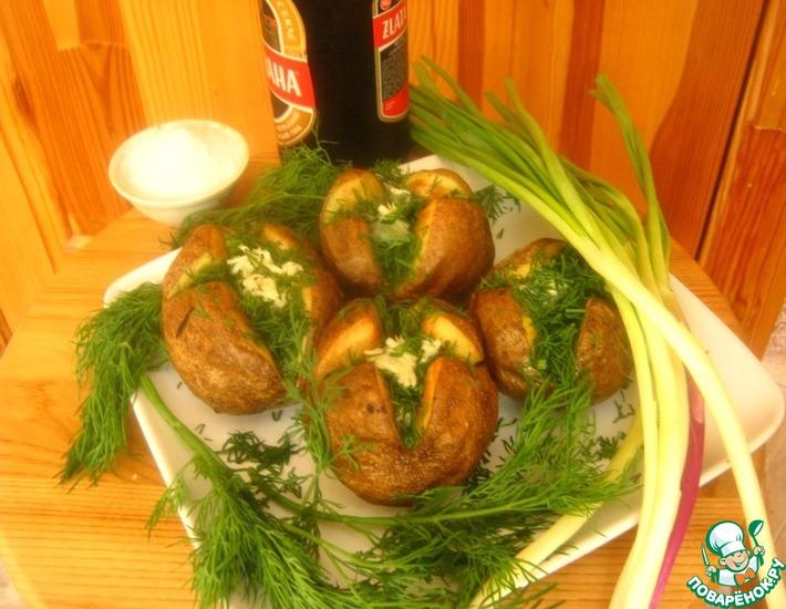 Рецепт: Картофель с чесноком и зеленью